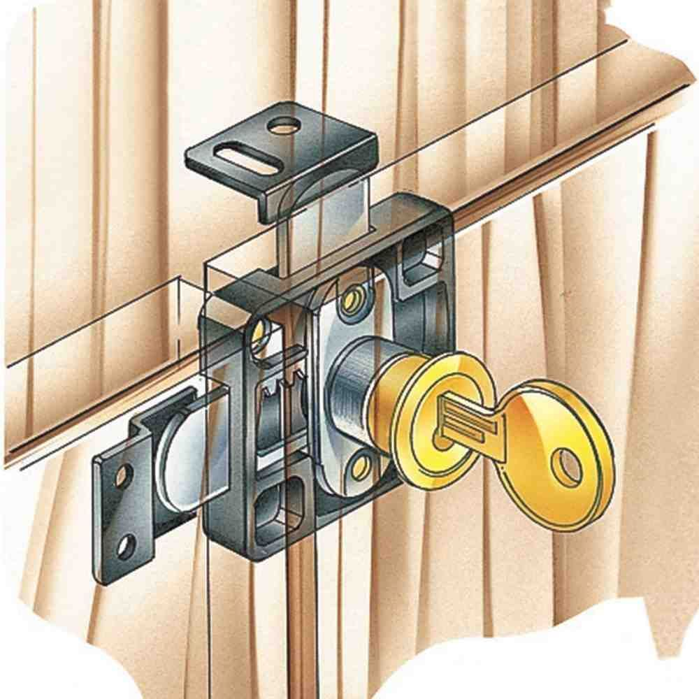 Double Cabinet Door Lock | Door locks, Cabinet doors, Double ...