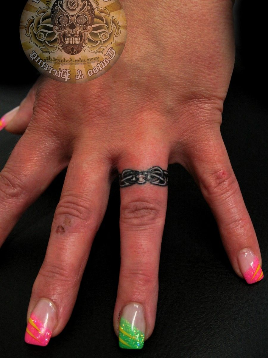 images for a wedding ring tattoo Awesome Wedding Ring