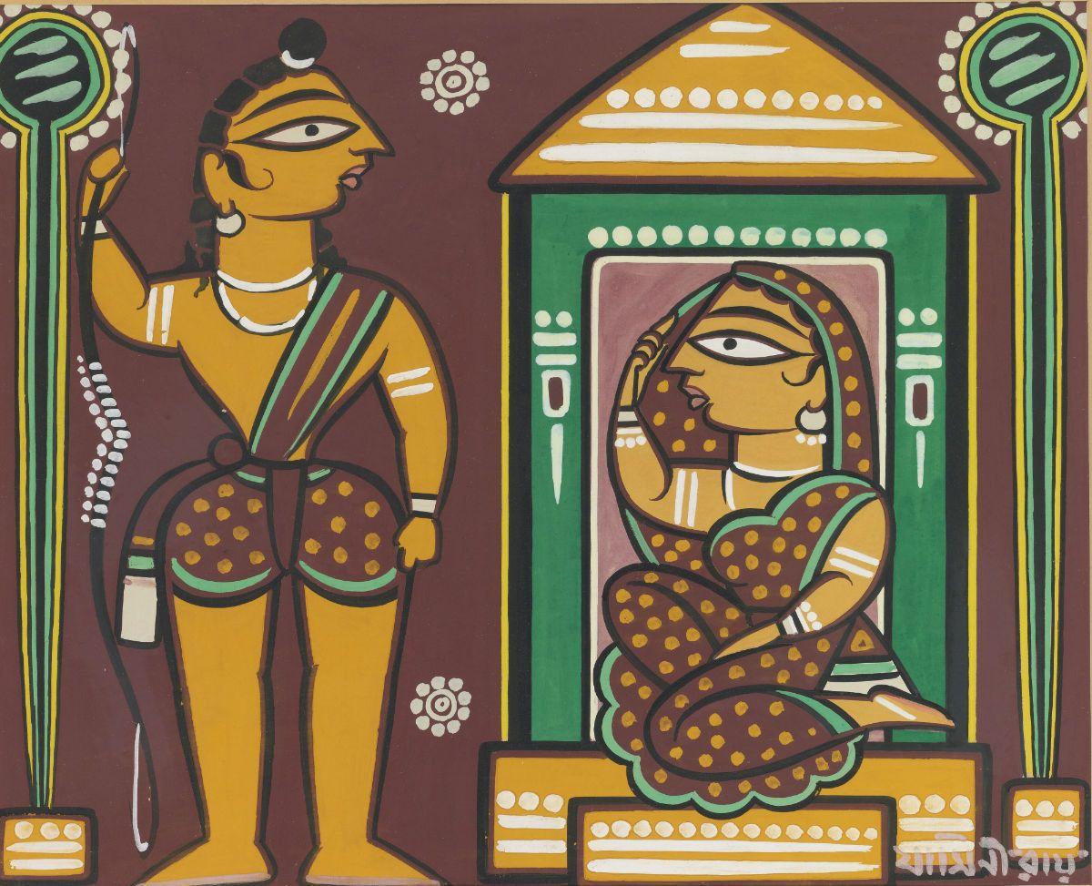 Jamini Roy - Untitled Rama And Sita Jiminiroy