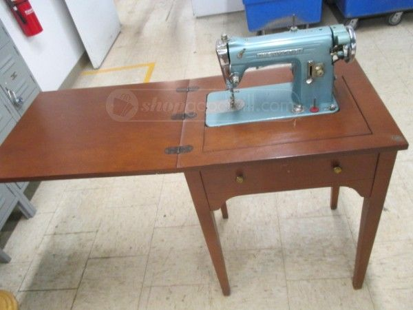 shopgoodwill.com: Antique Kenmore cabinet electric sewing machine ...