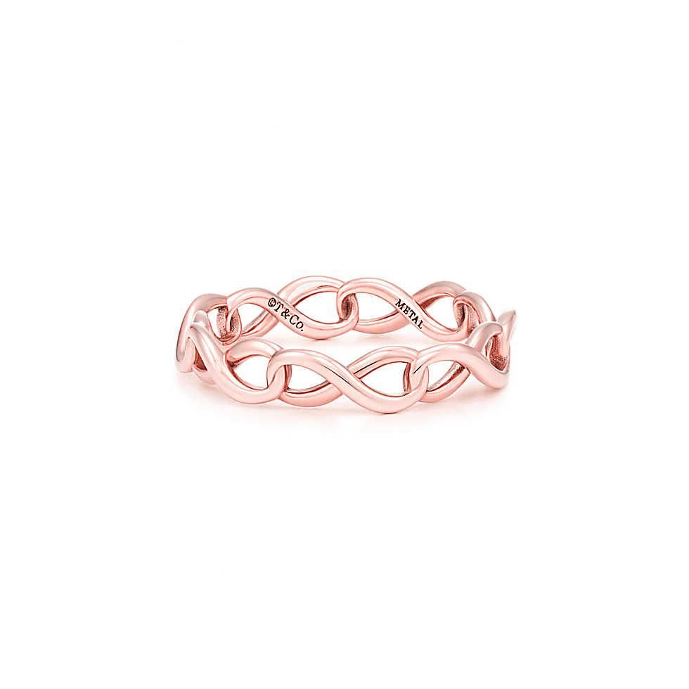 gold ring diamond brilliant promise twist intertwined infinity products band fullxfull braid rose il