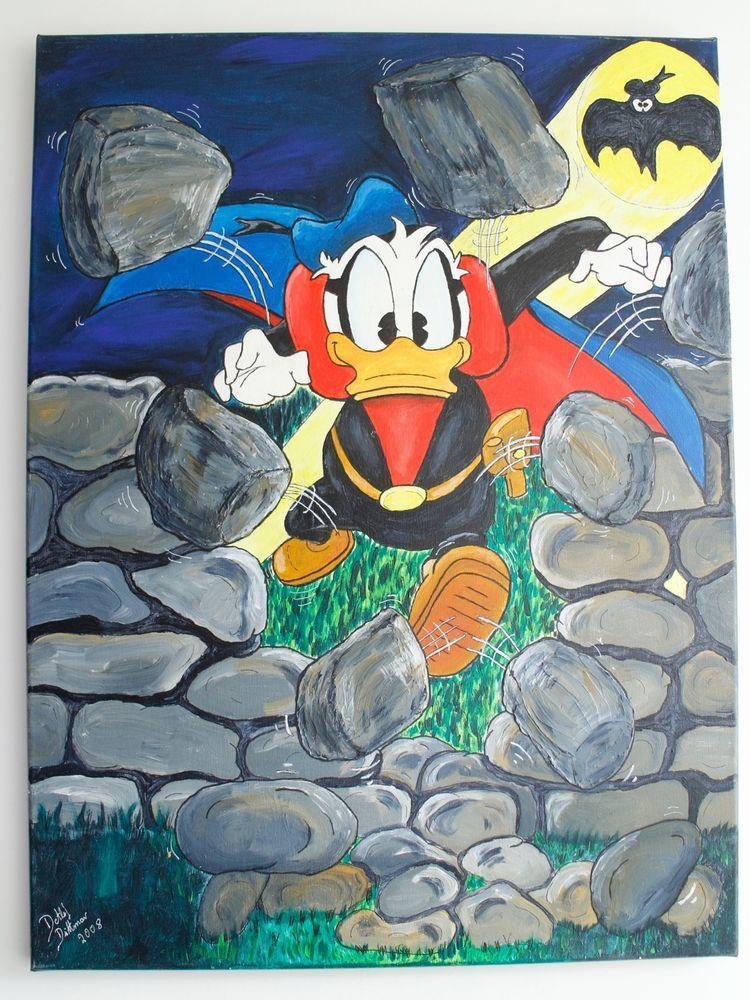 Xxl Donald Duck Bild Leinwand Gemalde Detlef Dittmar Entenhausen Comic Original Bilder Leinwand Gemalde Leinwand