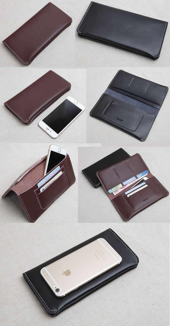Handmade Leather Wallet Bifold Wallet Holder Purse
