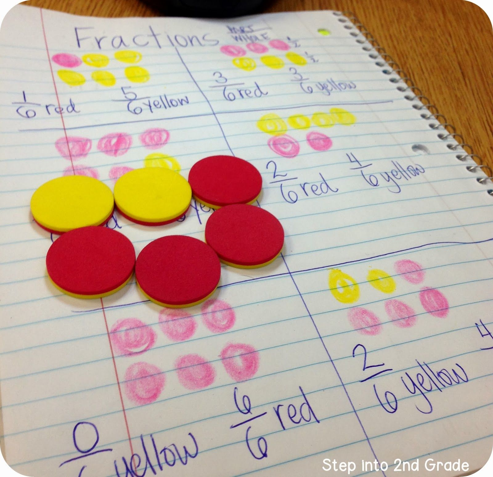 Introducing Fractions With Counters