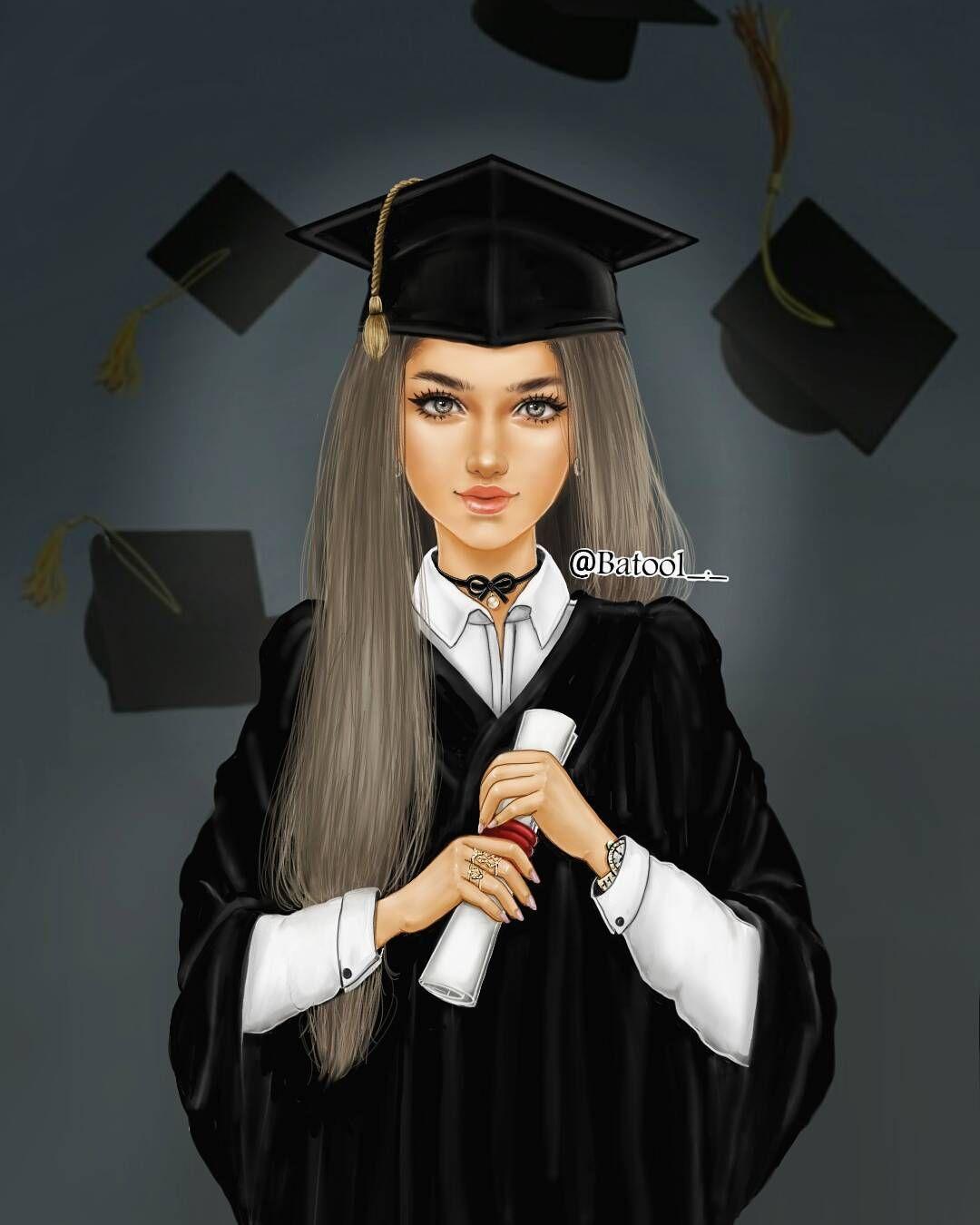 1 597 Likes 64 Comments Vatssℓ Kuwait Batool On Instagram ياسلام الله على اللي بفرحه تخرجت وابتدات صفحه Girly M Girls Cartoon Art Cute Girl Drawing