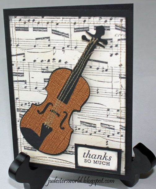 Judesters World Thank You Card For Violin Teacher Using SCAL2 Musical Cards Theme