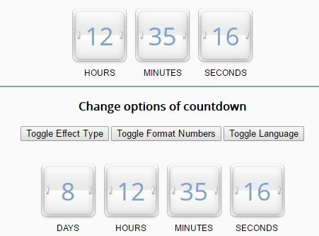 Simple Countdown / Periodic Timer Plugin With jQuery
