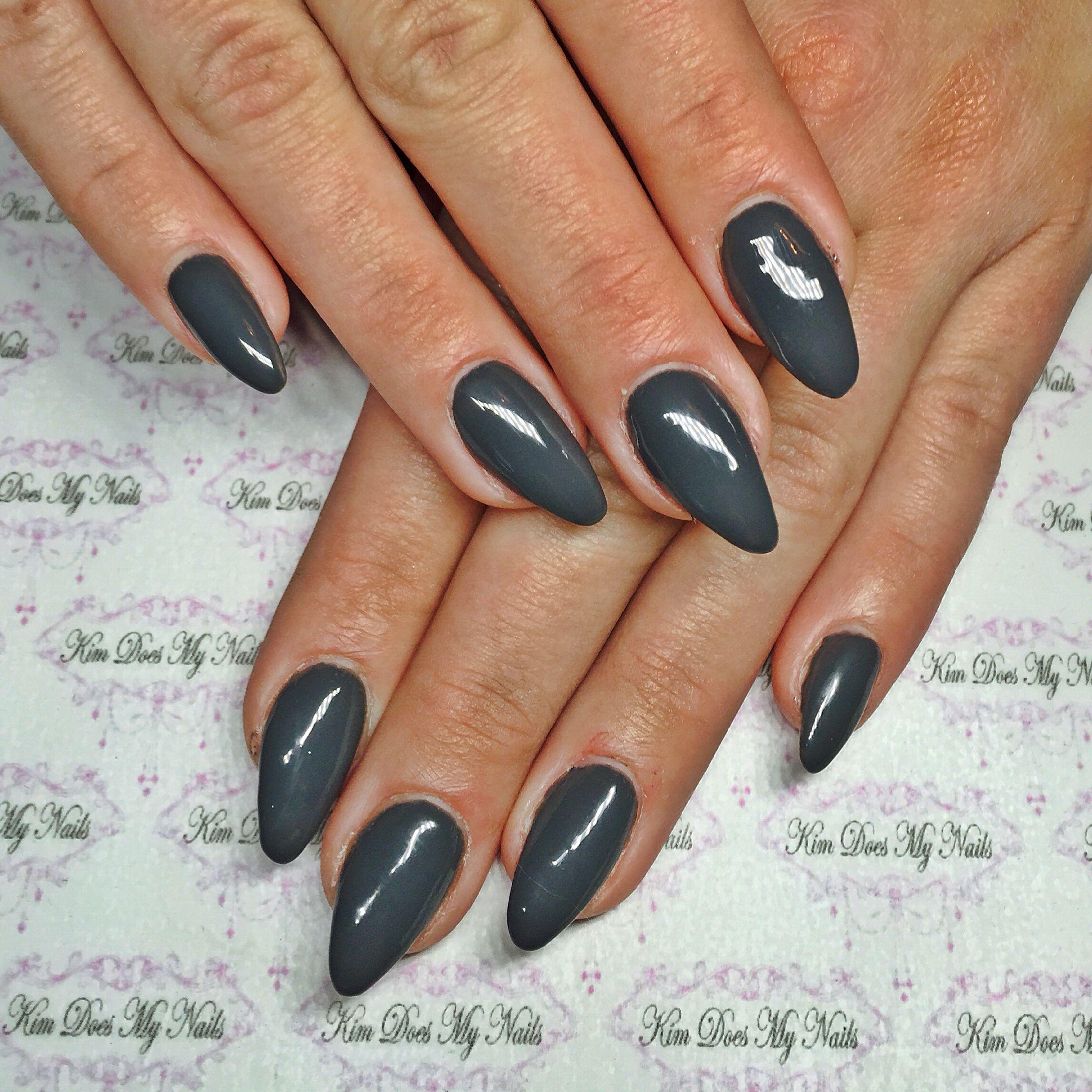 Charcoal grey nails #kimdoesmynails | Kim Does My Nails | Pinterest ...