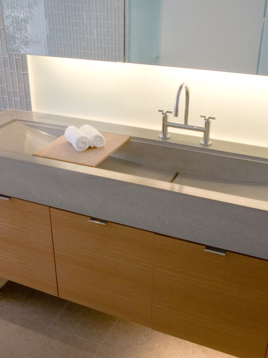 Poured Concrete Sink   Modern   Bathroom   San Francisco   By Modern House  Architects