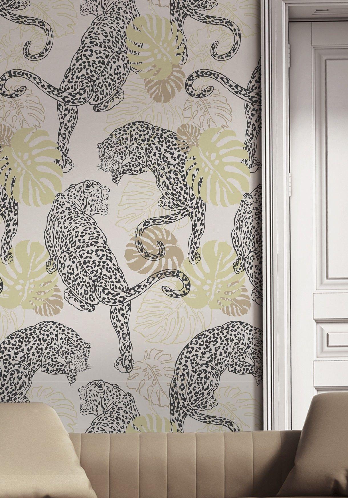 Leopard Stunning Art Deco Inspired Wallpaper In 2019 Art