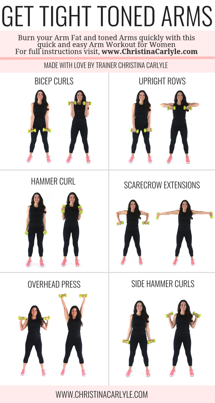 Arm Workout for Women that Want Tight Toned Arms #pilatesworkoutroutine