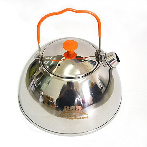 e35dc52ed44 BRS 0.6L Outdoor Camp Picnic Cookware Mini Teapot Stainless Steel Kettle  Coffee Pot
