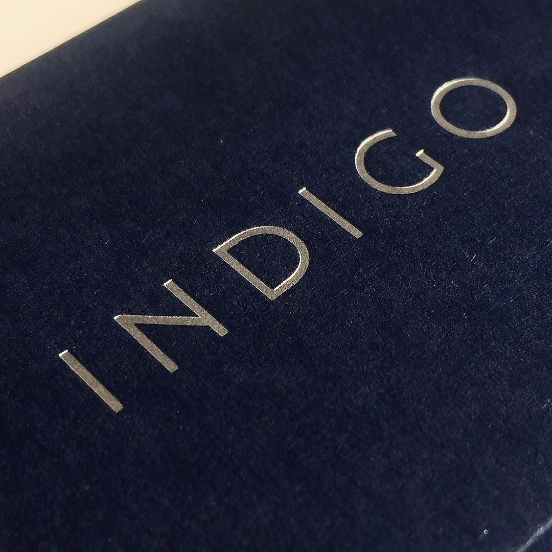 Silver foil on Imperial Blue Colorplan Paper. Business cards printed ...