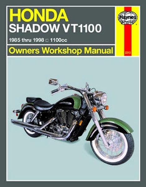 honda shadow vt1100 haynes repair manual 1985 2007 favu rh pinterest com 1995 honda shadow 1100 service manual honda shadow vt1100 service manual pdf