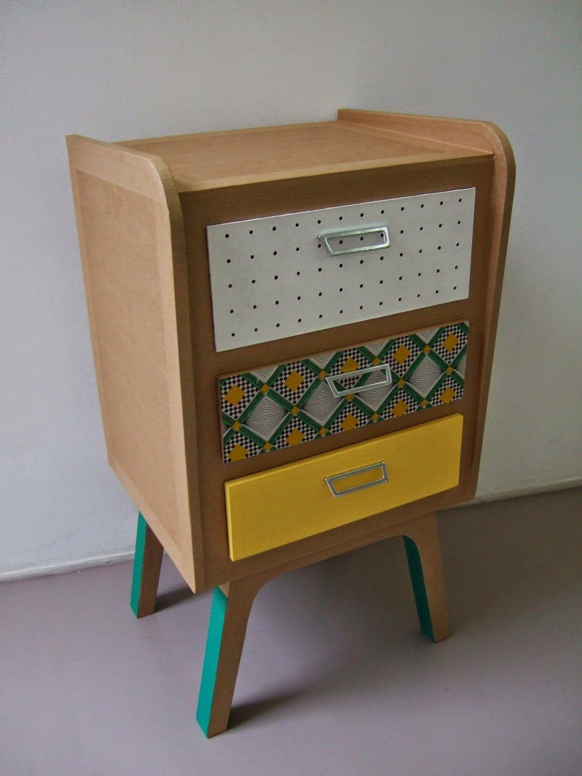 Image De Meuble En Carton commode en carton | meuble en carton, mobilier en carton