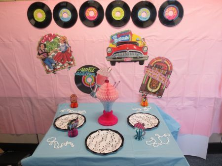 Beautiful 50u0027s Wall And Table Decorations #50sparty #sockhop #partycheap