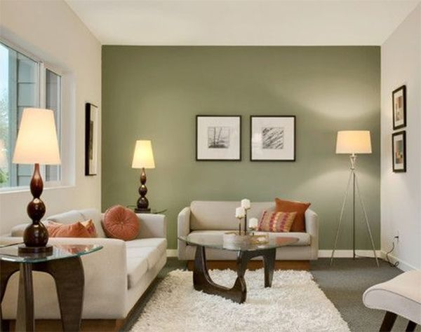 Image Result For Dark Green Feature Wall And Light Paint In The Living Room