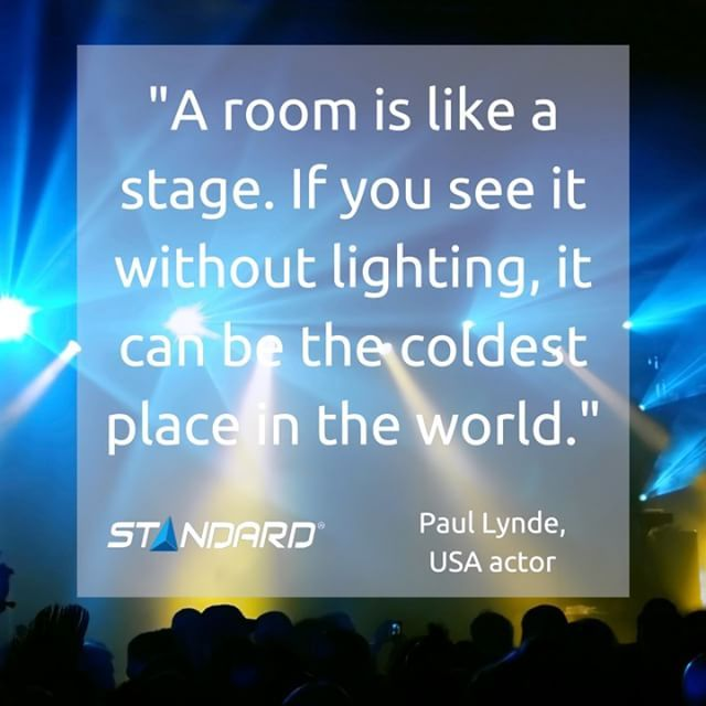 Light up your stage!  #StandardProducts #Montreal #Quebec #Toronto #Ontario #Bc #Vancouver #Alberta #Calgary #Stage #Light #Home #InteriorDesign #Design #Lighting #Quote #MotivationMonday