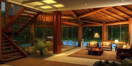 Casas 4 quartos de luxo luxuosas casas dentro do complexo for Casas pintadas por dentro