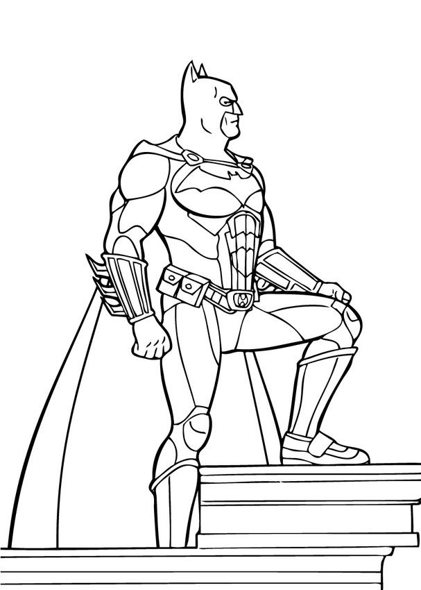 Batman the superpower coloring page . Enjoy the wonderful world of ...