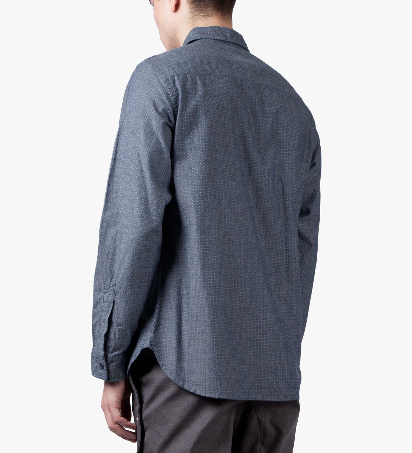Sky Hidden Map Pockets Shirt