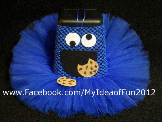 Cookie Monster Tutu by MyIdeaOfFun on Etsy, $2000 Misc - halloween tutu ideas