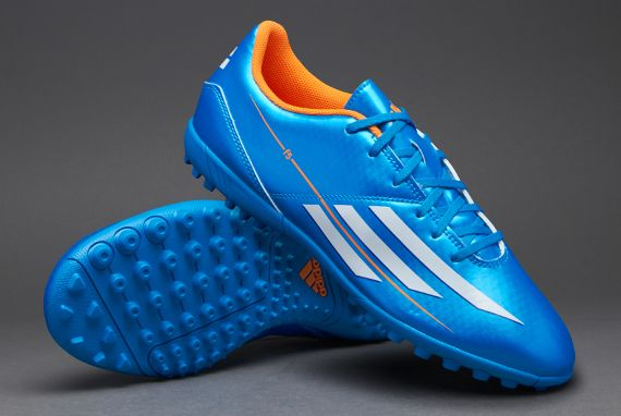 57c520ed7913 adidas Football Boots - adidas F5 TRX Turf - Astro Turf - Soccer Cleats -  Solar Blue-Running White-Solar Zest