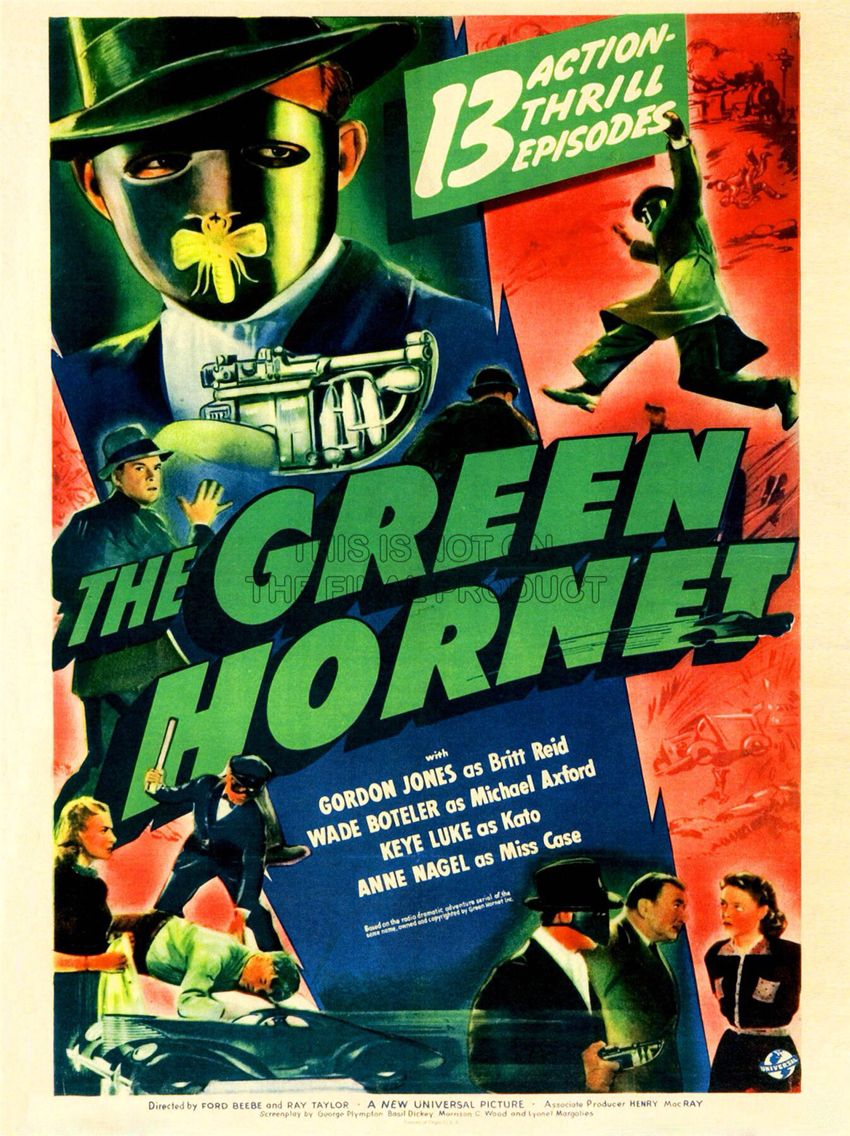 The Green Hornet movie serial (1940) | Old movie posters and
