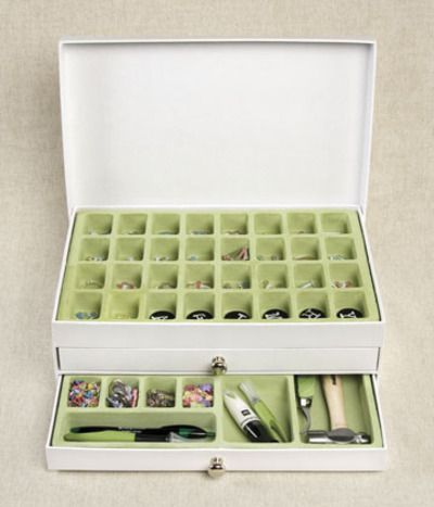 Scrapbooking and presents organize letters into this little box
