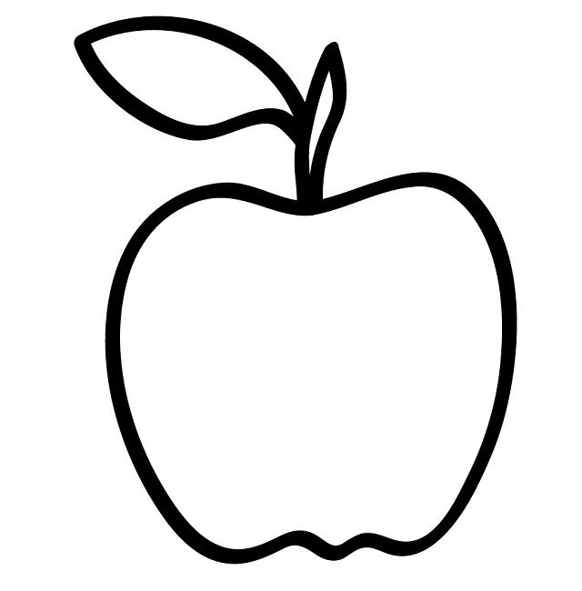 apple fruit coloring page Food