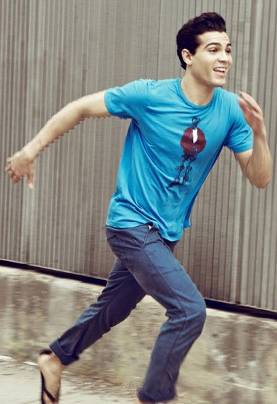 (Limited Supply) Click Image Above: James Short Sleeve Graphic Tee In Blue - Designed By Paste