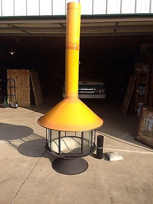 Malm Freestanding Cone Fireplace Vintage Retro Never