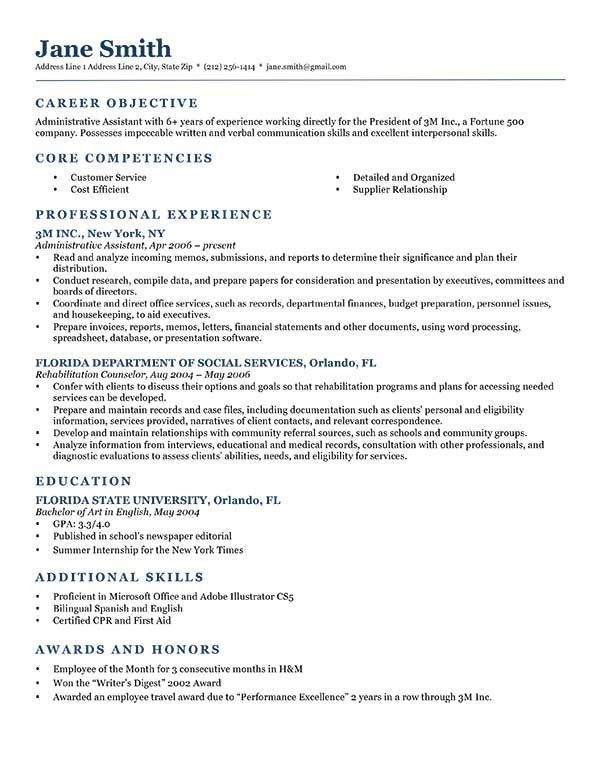 Objective Resume Resume Examples Job Objective #examples #objective #resume .