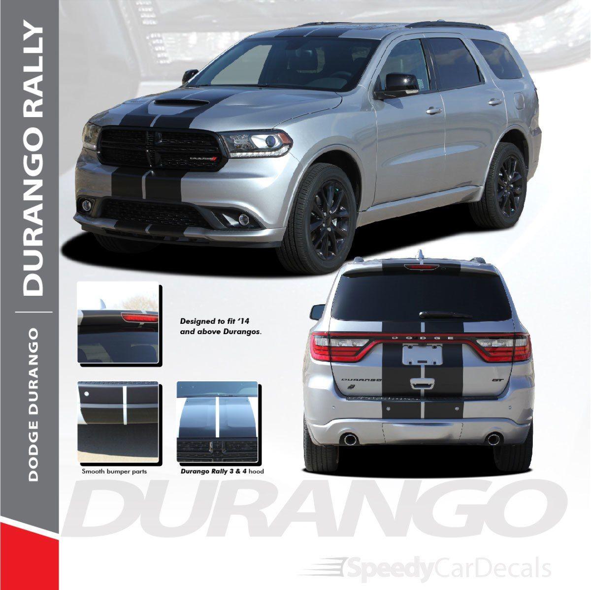 Dodge Durango Racing Stripes 3m Durango Rally 2014 2018 2019 2020 2021 Premium Auto Striping Dodge Durango Racing Stripes Vinyl Graphics
