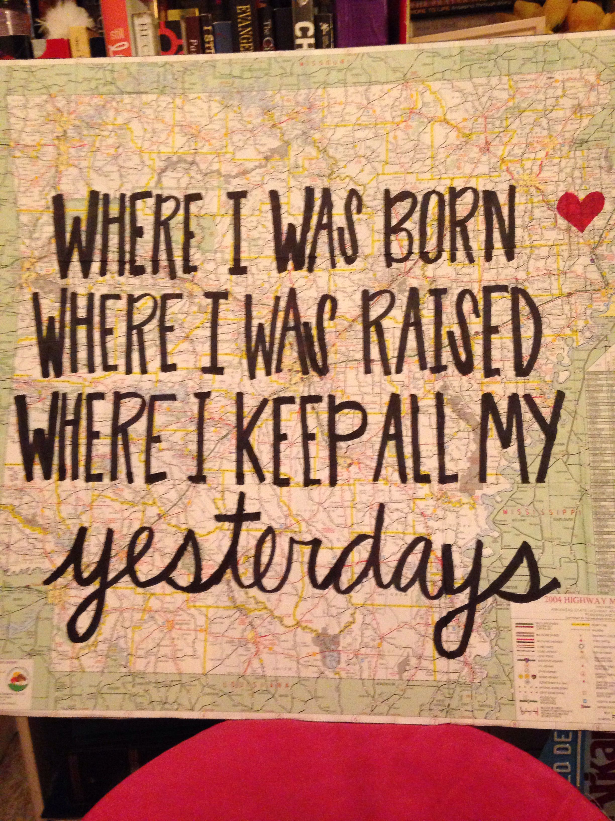Great Music Quote And A Heart Over My Hometown And The Surrounding