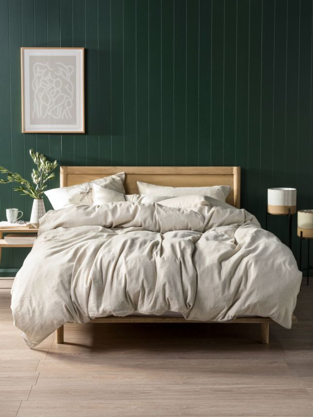 The Timeless Appeal Of Linen Brings A Rustic Aesthetic To Modern Living With Its Vintage Look And D Calming Bedroom Colors Bedroom Green Bedroom Color Schemes
