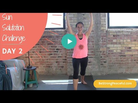 beginner yoga sun salutation challenge day 2  youtube