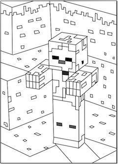 Printable Minecraft Zombies Coloring Pages Minecraft Coloring