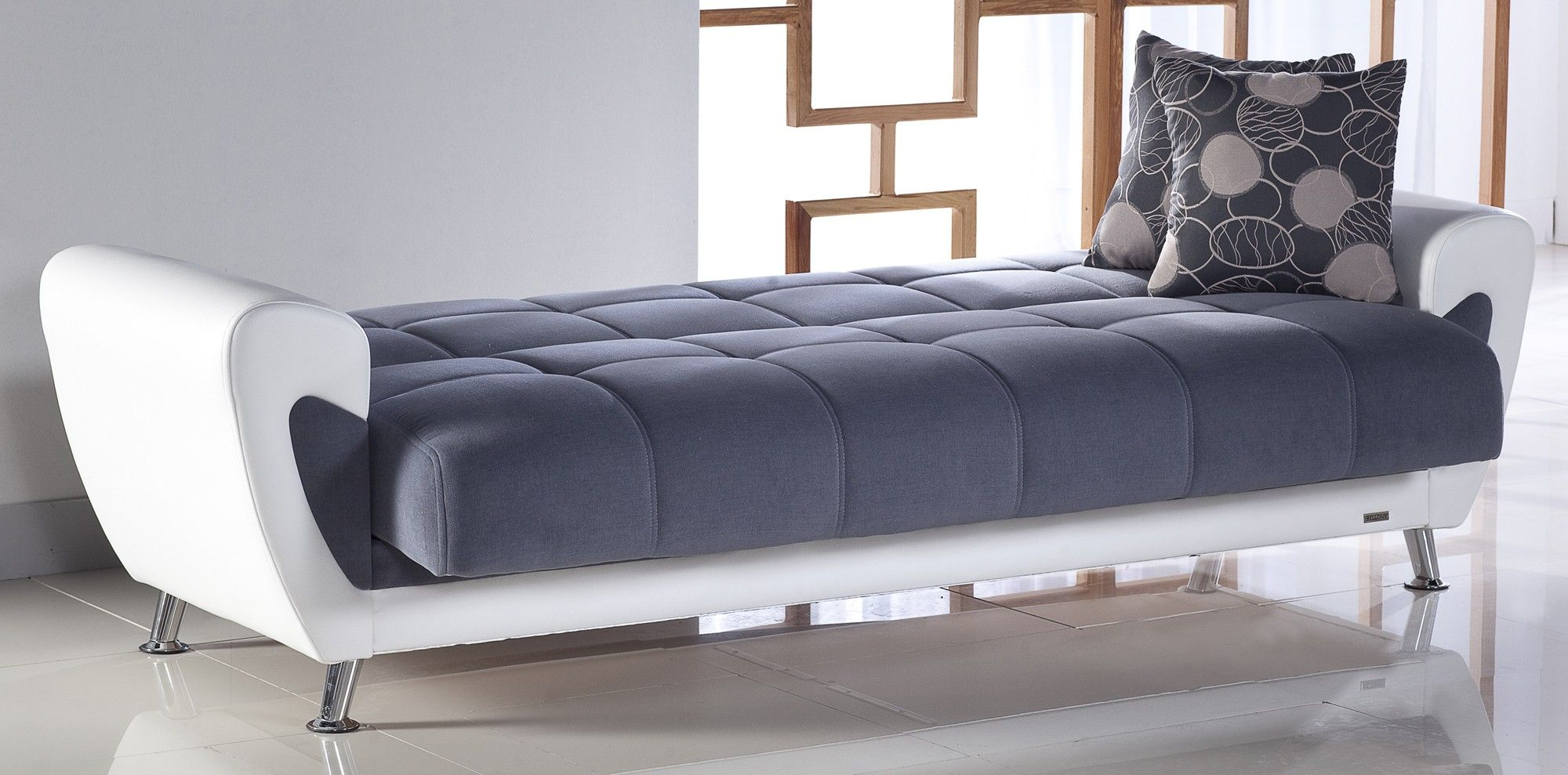 Cool Living Area Design Presented With Light Grey Tufted Modern ... Modern  CouchBedroom ...