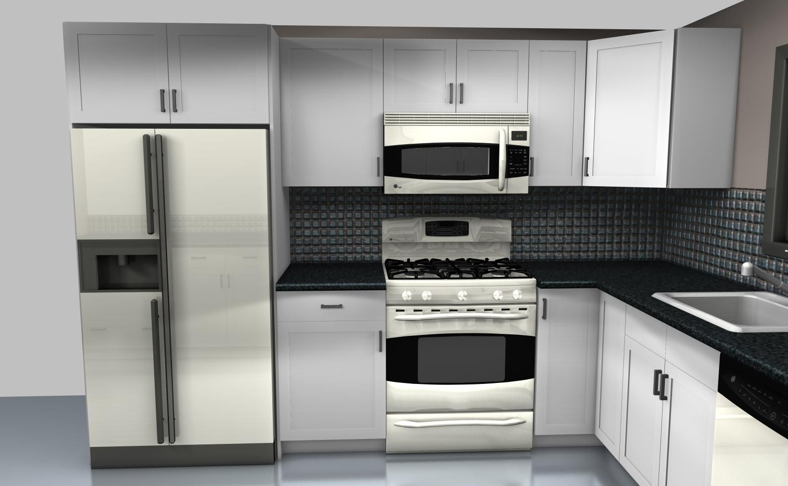 Old Kitchen Stove And Fridge On Same Wall Yahoo Search Results Modern Kitchen Design Glass Kitchen Cabinets L Shaped Kitchen Designs