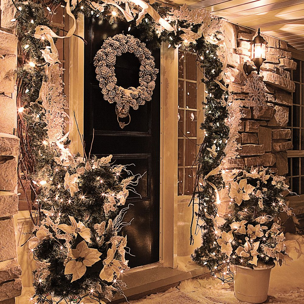 Un d cor de no l givr pour l 39 ext rieur inspirations for Decorations exterieures de noel