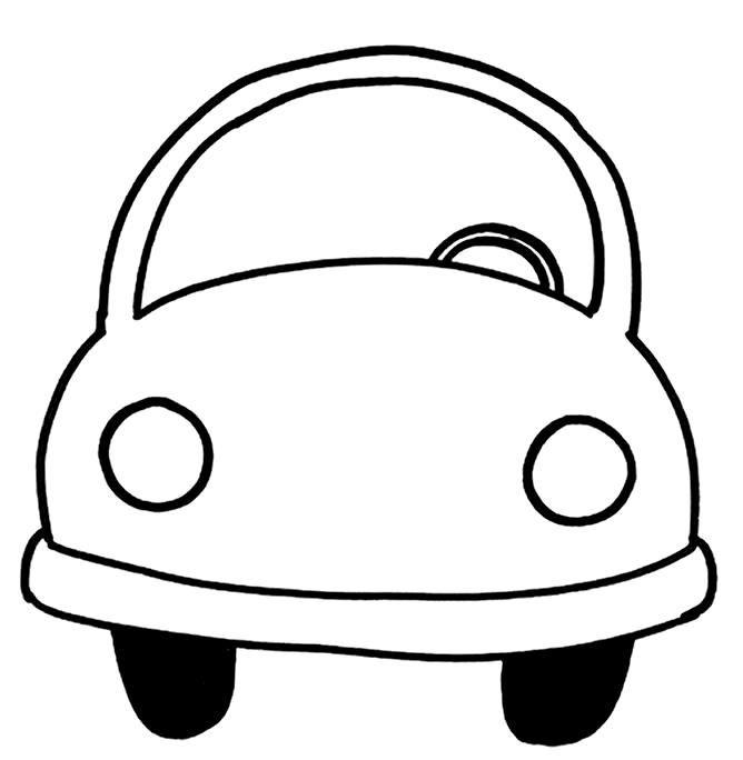 Carrinho De Frente Carros Desenho Infantil Lixeira Para Carro
