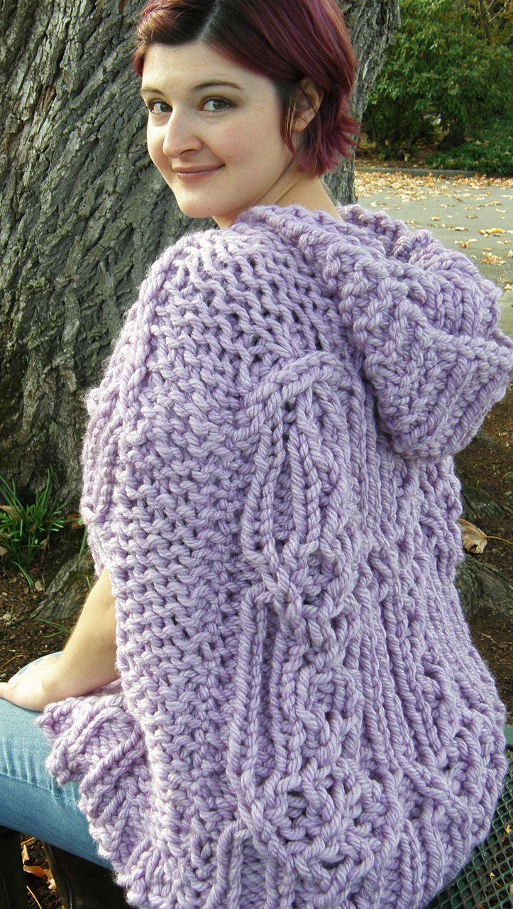 Fairhaven Poncho | Loom knitting patterns, Loom knitting ...