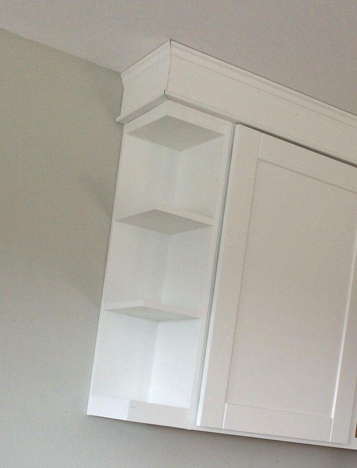 Open Shelf End Wall Cabinet Kitchen