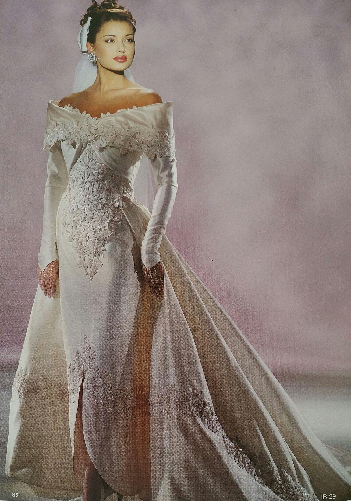 Demetrios 1995 Retro Wedding Gown Wedding Dresses 90 Wedding Dresses Vintage
