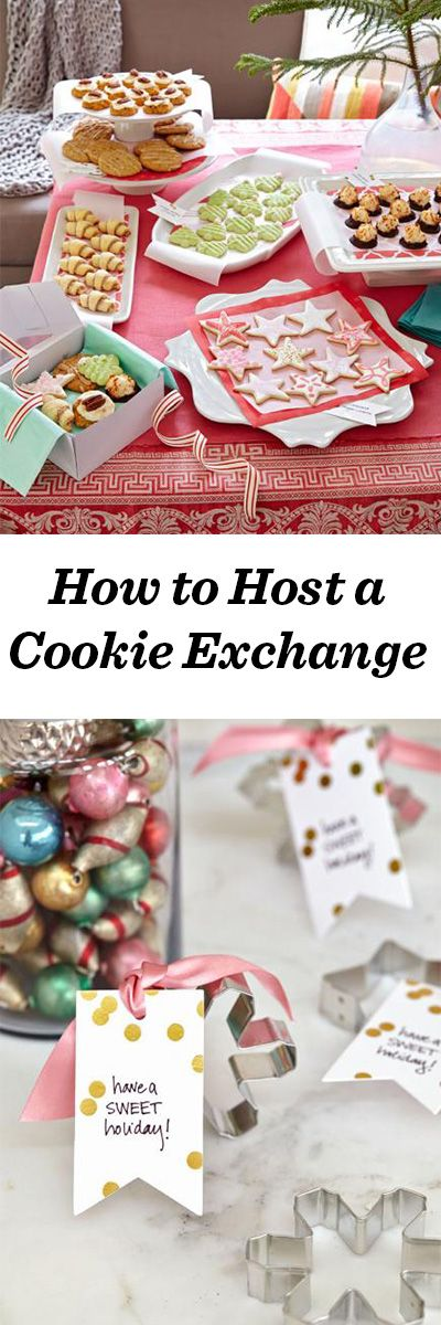 5 Christmas Party Ideas Holidays, Cookie exchange party and Cookie