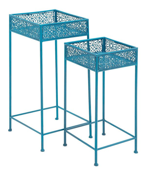 This Blue Plant Stand Set By Uma Enterprises Is Perfect Zulilyfinds