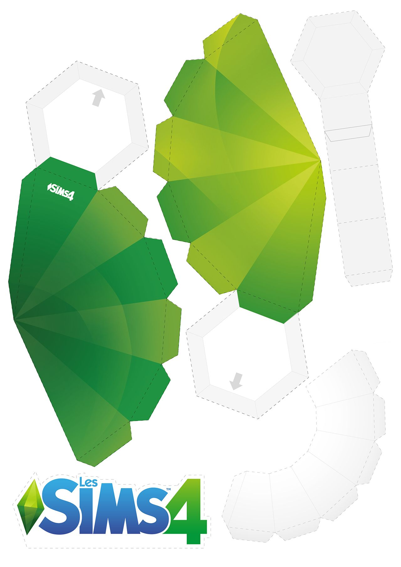 It is a photo of Persnickety Sims Plumbob Template Printable