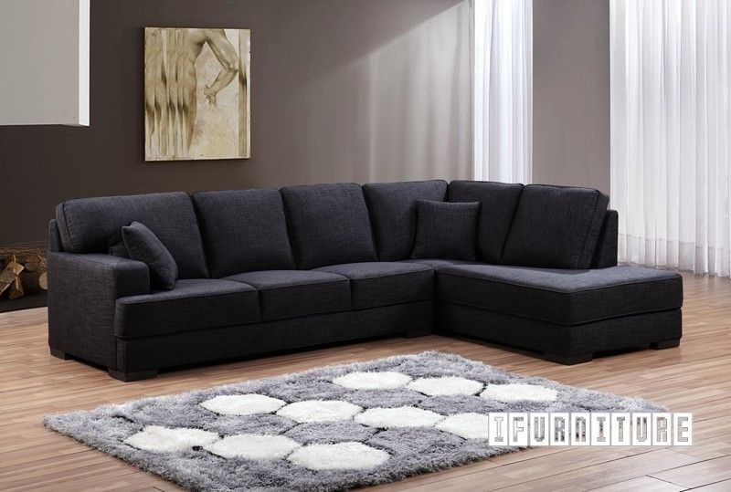 Karlton Sectional Sofa Dark L Shaped Sofa Sectional Sofa Ottoman Sofa