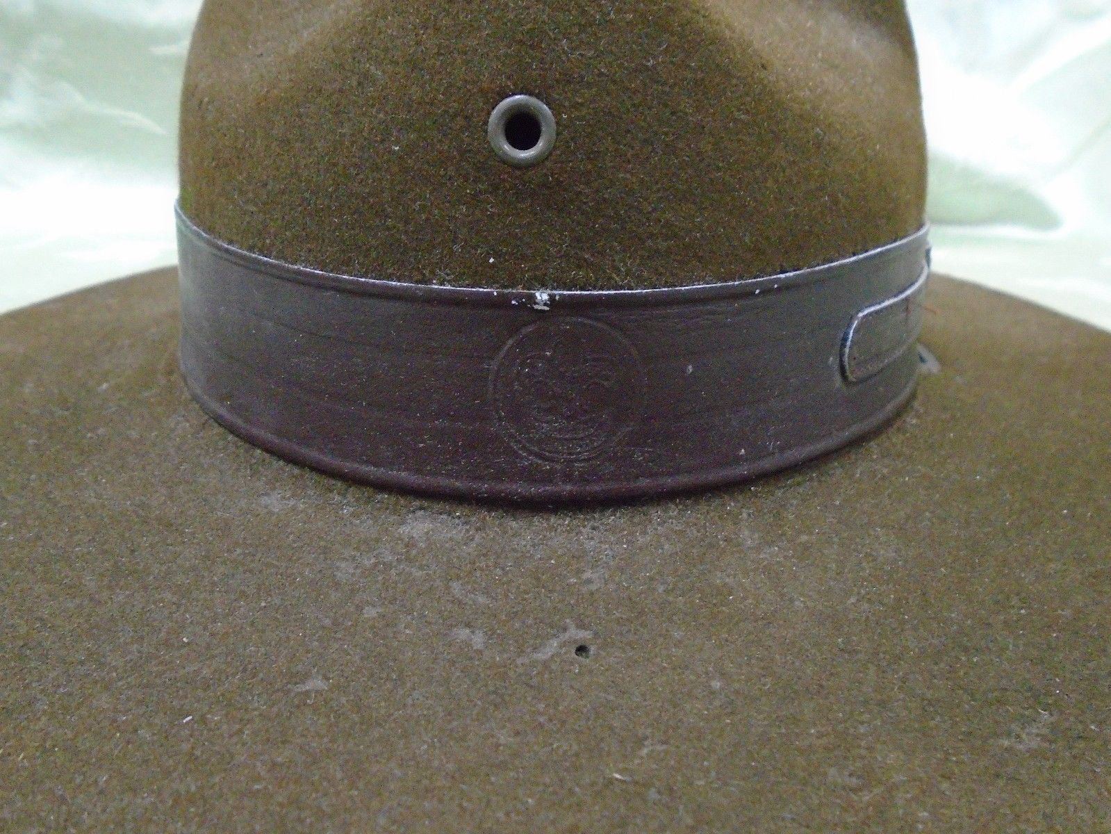 66404077f11 Vintage Stetson Bsa Official Boy Scouts Leader Campaign Hat ...